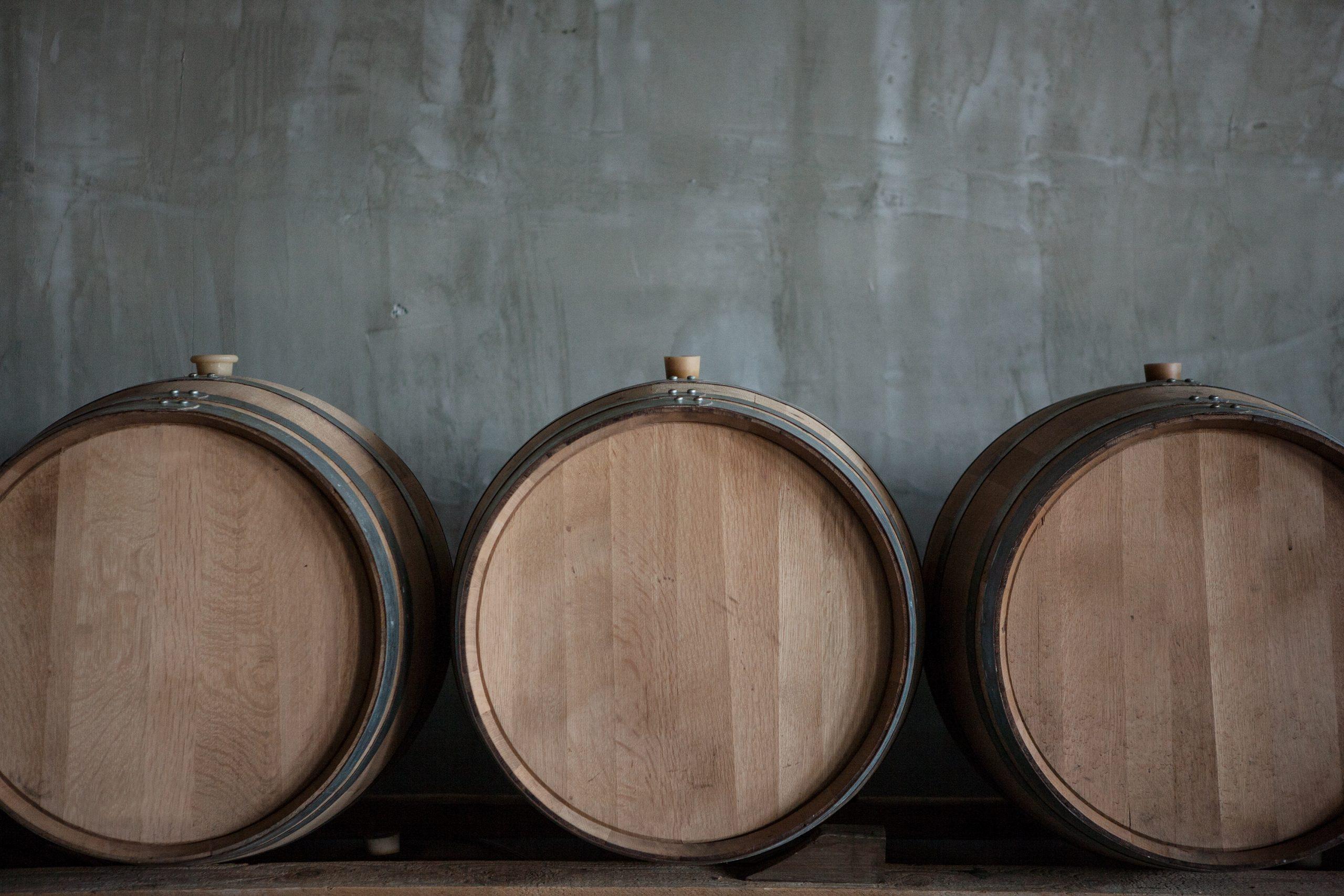 Les barriques de vin